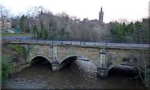NS5666 : Snow Bridge and Glasgow University tower by Thomas Nugent