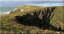 SW8576 : Round Hole near Trevose Head by Derek Harper