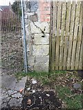 NX4355 : Wall showing OS Benchmark in Southfield Lane Wigtown by thejackrustles