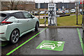 NT4936 : An electric car charging point at Galashiels by Walter Baxter