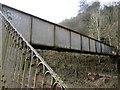ST1490 : Railway footbridge, Llanbradach by Jaggery