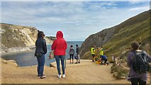 SY8080 : Surveyors above Man o' War Cove, near Durdle Door by Phil Champion