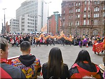 SJ8397 : Manchester, dragon dancers by Mike Faherty
