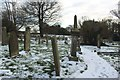 NZ2595 : Churchyard, Widdrington Parish Church by Graham Robson