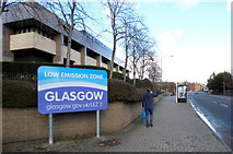NS5964 : Glasgow Low Emission Zone sign by Thomas Nugent