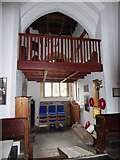 SP2760 : St Peter, Barford: balcony by Basher Eyre