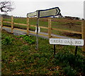 SO2218 : Great Oak Road direction and distances signs, Crickhowell by Jaggery