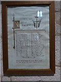 SP2160 : St James the Great, Snitterfield: Roll of Honour by Basher Eyre