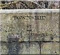 SJ9395 : Township boundary: Hyde | Haughton by Gerald England