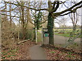 TQ2267 : Gate into Morden cemetery by Malc McDonald