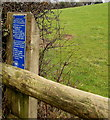 SO2219 : White-on-blue National Park notice alongside the road to Llanbedr, Powys by Jaggery