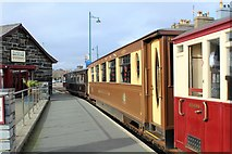 SH5738 : Pullman and observation cars of Welsh Highland Railway by Richard Hoare