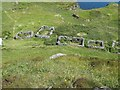 NM2842 : Lunga - long-abandoned dwellings by Rob Farrow