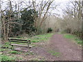 TQ2166 : Bench alongside the London LOOP, Old Malden by Malc McDonald
