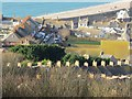 SY6873 : View across Fortuneswell to Chesil Beach, Portland by Becky Williamson