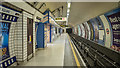 TQ2980 : Platform, Leicester Square Underground Station by Rossographer