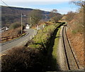 SO0901 : Single-track railway from Bedlinog towards Merthyr Tydfil by Jaggery