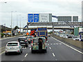 O0830 : Overhead Sign Gantry at N7/M50 Interchange by David Dixon