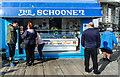 SH7882 : The Schooner seafood stall, Llandudno Pier by Matt Harrop