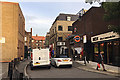 TQ3480 : Squeezing out of Cornwall Street, Shadwell by Robin Stott