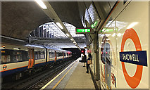 TQ3480 : North on Shadwell Overground station by Robin Stott