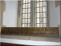 ST6149 : The old memorial hall sign by Neil Owen