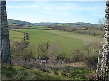 SO2980 : View from Clun Castle by Fabian Musto
