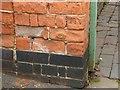 SK3436 : Bench mark, Sudbury Street by Alan Murray-Rust