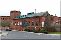 SK3436 : Hydraulic pump house, Great Northern Road, Derby by Alan Murray-Rust