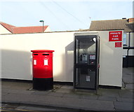 NZ6025 : Double Elizabeth II postbox and telephone box on Cleveland Street, Redcar by JThomas
