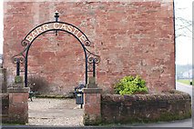 NS5036 : Entrance to Barr Castle Garden, Galston by Billy McCrorie