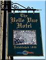 SO0602 : Belle Vue Hotel name sign, Bridge Street, Troedyrhiw by Jaggery