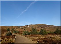 SJ1662 : Path to Moel Famau from the Forestry Car Park by Eirian Evans