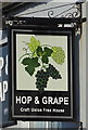 NZ6025 : Sign for the Hop & Grape, Redcar by JThomas