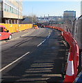 ST3088 : Temporary fencing on both sides of Mill Street, Newport by Jaggery