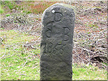 SK3068 : Old Boundary Marker by Milestone Society