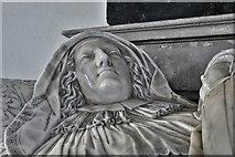 TM3973 : Bramfield, St. Andrew's Church: Arthur and Elizabeth Coke memorial by Nicholas Stone 3 by Michael Garlick