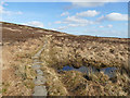 SE0127 : Causeway onto Midgley Moor by Stephen Craven
