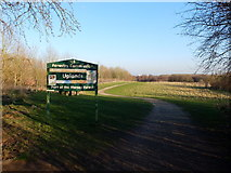 SJ6575 : Uplands Path at Anderton Nature Park by Gary Rogers