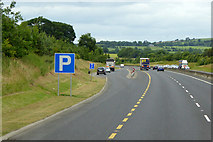 S8098 : Layby on the Northbound M9 near Ballyduff by David Dixon