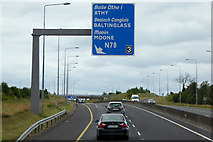 S7794 : Northbound M9 at Junction 3 by David Dixon