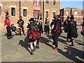 SO8218 : Morris Dancers in Gloucester Docks by Philip Halling