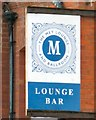 NZ8911 : Sign of the Met Lounge Bar by Gerald England