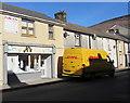 SO0602 : Yellow DHL van, Bridge Street, Troedyrhiw by Jaggery