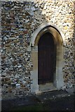 TL4845 : The Church of St Peter: Priest's door by Bob Harvey