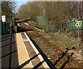 SO0702 : 20 sign opposite Troed-y-Rhiw railway station by Jaggery