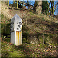 SD9050 : Milepost, Leeds and Liverpool Canal by Ian Taylor