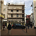 SX9372 : At last something is happening at 6 Somerset Place, Teignmouth by Robin Stott