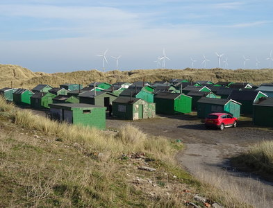 NZ5527 : Fishermans' Huts, South Gare  by JThomas