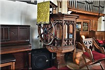 TM5286 : Kessingland, St. Edmund's Church: The pulpit by Michael Garlick
